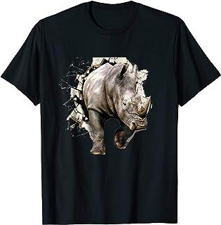 3D Rhino T Shirt African Rhinoceros