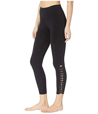 Hard Tail Laced Ankle Leggings (Black) Women