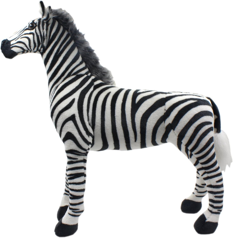 TAGLN Plüschtiere Spielzeug Zebra Plüsch Pferd (70 cm)