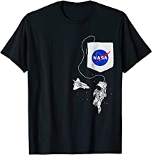 NASA Pocket Astronaut Space Shuttle in Space T-Shirt