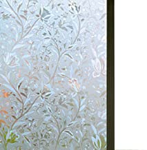 Bloss Excellent Quality 3D Static Cling Window Film Self adhesive Window Covering Decorative Flower Privacy film for window 17.7