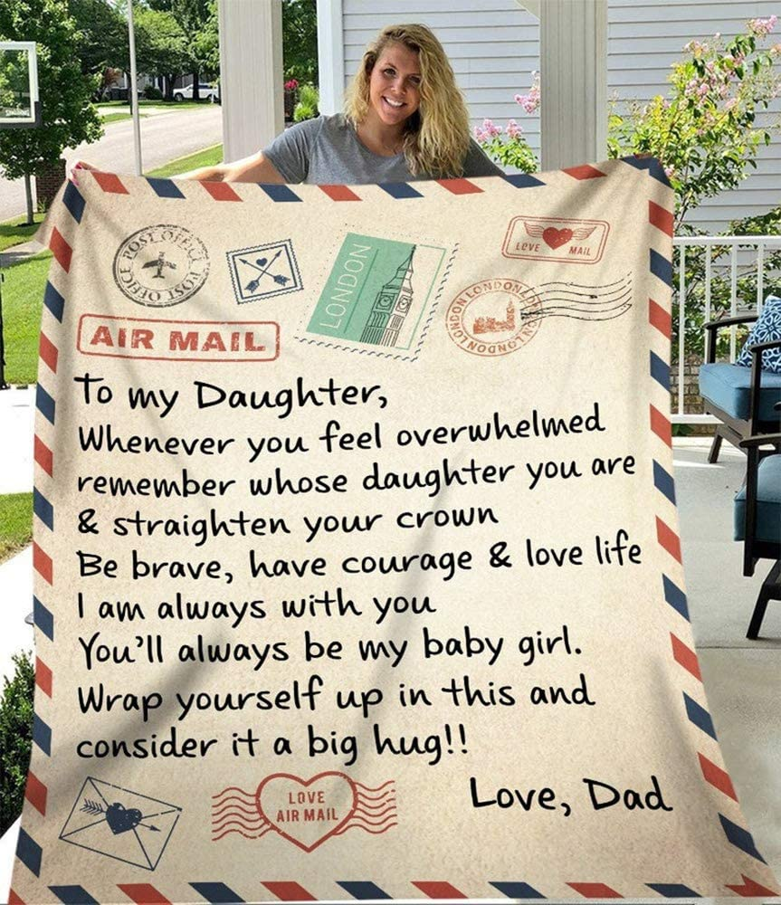 Topics on TV Letter to My Daughter Challenge the lowest price of Japan ☆ I Love You from Throw G Blanket Fleece Dad