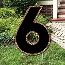 Big Dot of Happiness Yard Number 6 - Black and Gold - 15.5