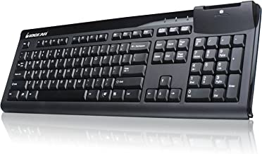 IOGEAR 104-Key Keyboard with Integrated Smart Card Reader, GKBSR201
