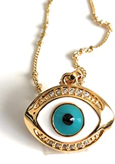 Evil Eye Necklaces for Women Protection Pendant 17.5 Inches Chain