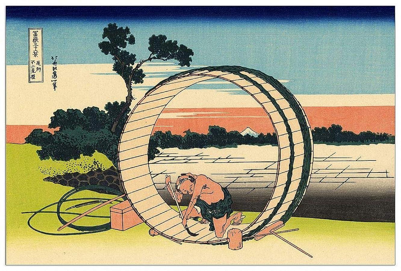 ArtPlaza TW90107 Hokusai Katsushika-Owari Province Decorative Panel, 39.5x27.5 Inch, Multicolored