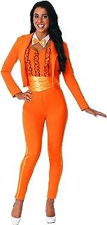 Adult Female Orange Tuxedo Costume
