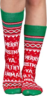 Adult Ugly Christmas Sweater Socks
