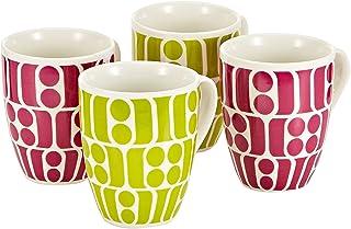Symphony 300 Ml Graffica Mug Set - 4 Pieces - Multi Color