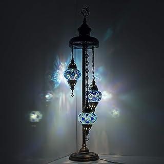 Lámpara de pie con mosaico de cristal de estilo Tiffany, marroquí, árabe turco marroquí, estilo bohemio, estilo Tiffany