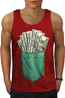 Wellcoda いっぱい ポケット お金 ファッション 男性用 S-2XL タンクトップ