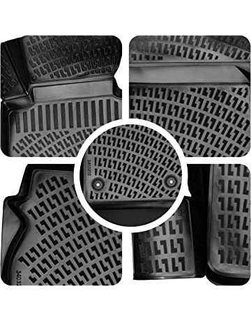 VAUXHALL CORSA E 2014 ON Tailored Carpet Car Floor BLACK MATS WITH RED EDGING