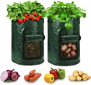 Grow Bags 10 Gallon for Growing Potato Garden Bags with Handles Fabric Pots to Grow Vegetables Tomato Carrot Onion Fruits ...