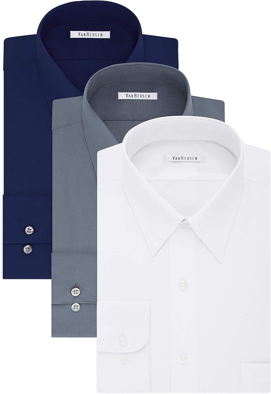 販売 Van Heusen 初売り Men's TALL FIT Dress Big Tall and Poplin Shirts