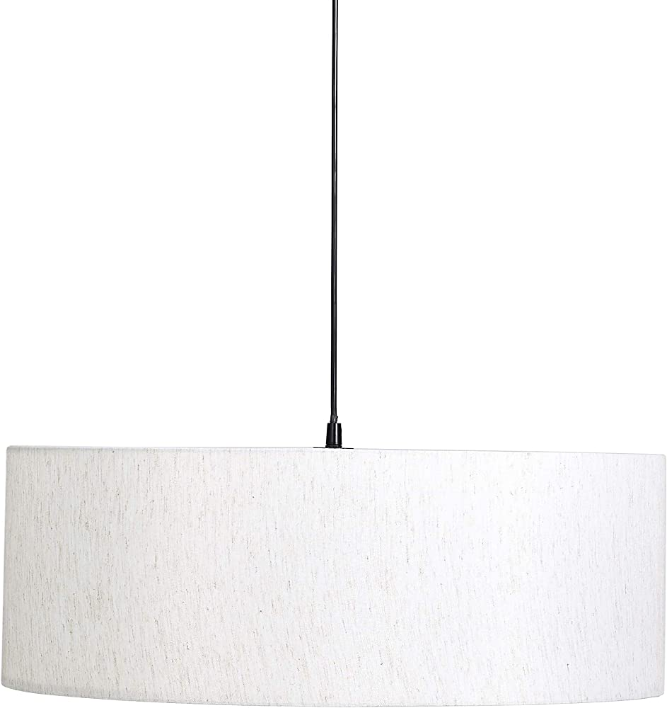 Umi by amazon, lampadario da soffitto  a forma cilindrica, paralume in tessuto ALT181016