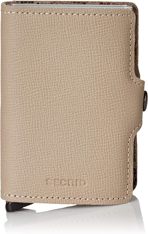 Secrid Twin Wallet Genuine Leather Crisple Taupe Camo RFID Safe Card Case max 18 cards