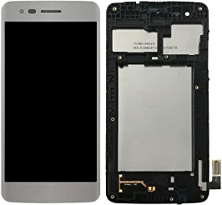 LCD Display Digitizer Touch Screen Assembly with Frame for LG M210 MS210 Aristo LV3 LG K8 2017 (White)
