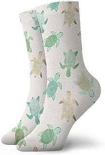 Luxury Calcetines de Deporte Tortoise Unisex Funny Art 3D Print Casual Crew Socks Athletic Crew Socks