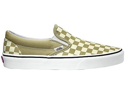 Vans Classic Slip-On ((Checkerboard) Cornstalk/True White) Skate Shoes