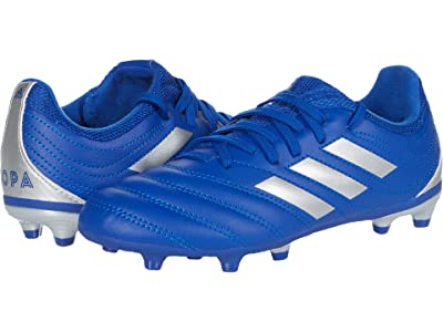 adidas Kids Copa 20.3 FG J Soccer (Little Kid/Big Kid) (Team Royal Blue/Silver Metallic/Team Royal Blue) Kids Shoes