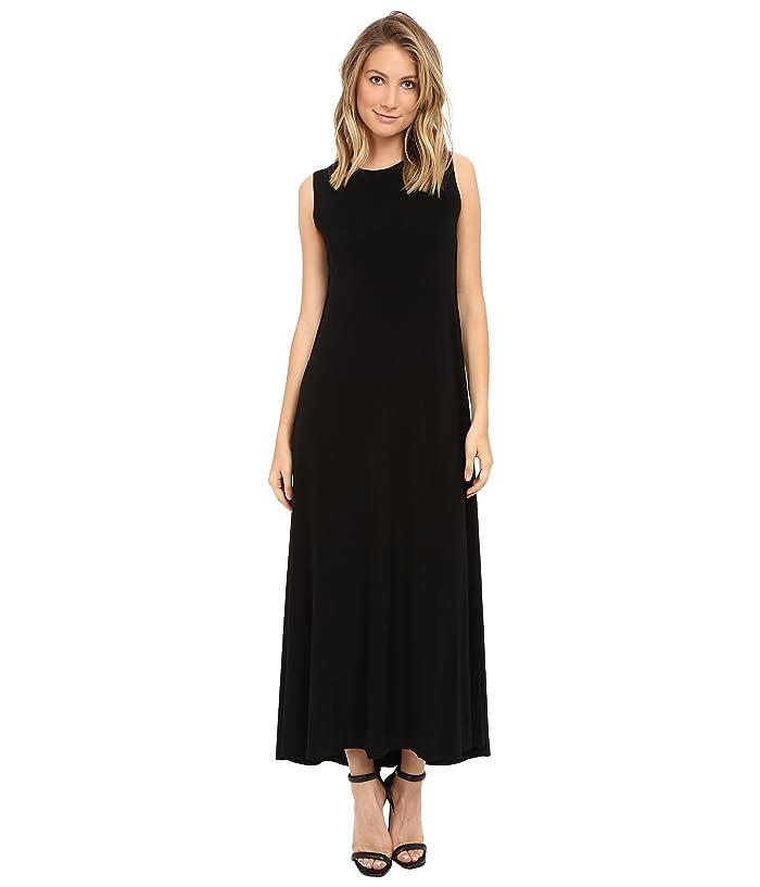 KAMALIKULTURE by Norma Kamali Sleeveless Long Swing Dress (Black) Women