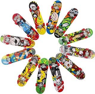 HEHALI 12pcs Matte Metal Finger Skateboards Professional Mini Fingerboards for Kids Birthday Gifts