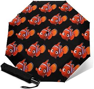 Nemo1 折叠伞 一键自动开合【最新版&2层构造】耐强风 超防水 210t高强度玻璃纤维 防紫外线 隔热 结实 带伞套