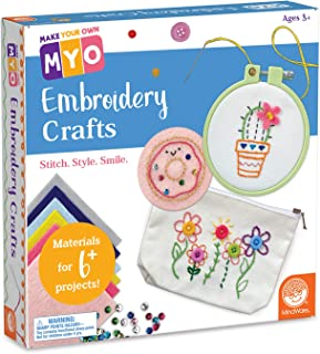 MindWare Make Your Own: Embroidery Craft Kit