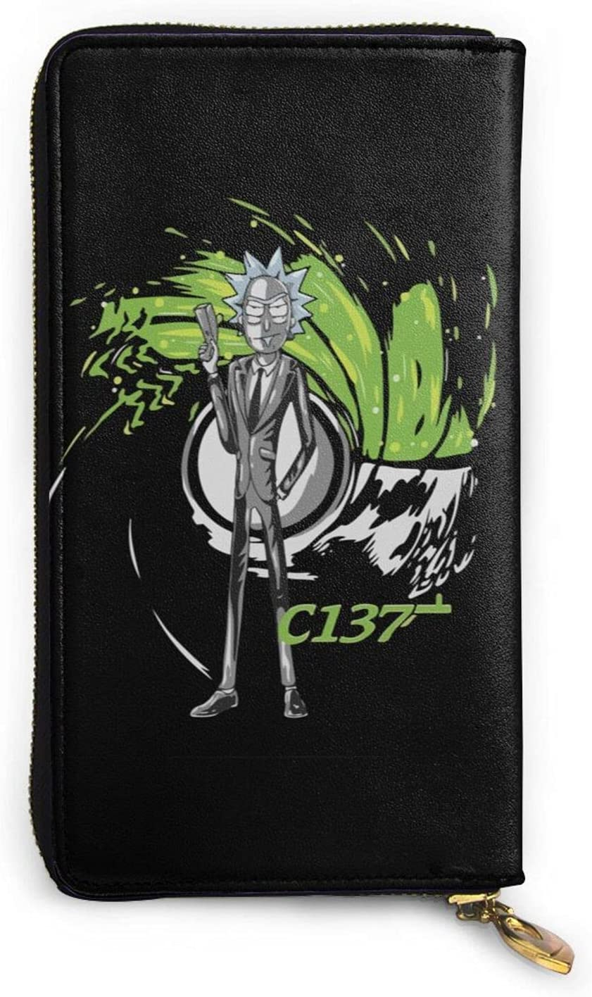 Cartoon Rick Chicago Mall And Morty Manufacturer OFFicial shop Zipper Genuine Long Hand Wallet Leather