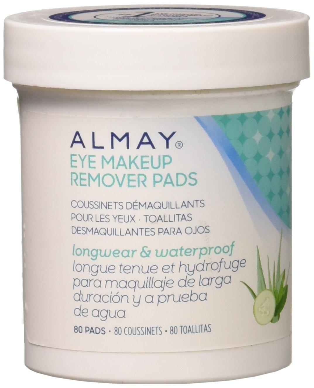 Almay Longwear & Waterproof Eye Makeup Remover Pads, 80 Count : Beauty