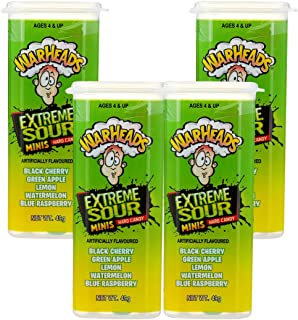 Warheads Extreme Sour Minis 49g - 4 Piece Pack