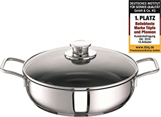 Schulte-Ufer Frying Pan Green Life, incl. Lid, Baking Pan, Stainless Steel 18/10, 28 cm, 6873-983-28 i
