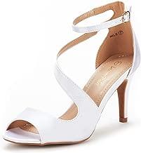 DREAM PAIRS Women's Nile Fashion Stilettos Open Toe Pump Heel Sandals