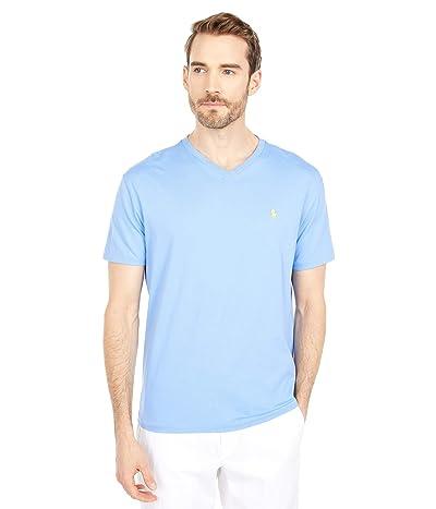Polo Ralph Lauren Classic Fit V-Neck Tee (Cabana Blue 1) Men