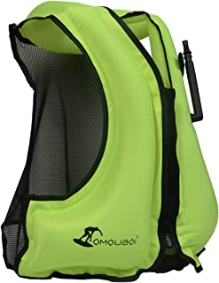 OMOUBOI LifeJackets SnorkelVestInflatable KayakLifeVest for Swimming Paddling Boating Adults Only 88-220 lbs