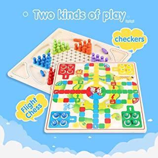 Chinese Checkers Chessboard Battle Flying Airplane Glass s Kids Toys Games