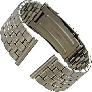 20mm Hirsch Titanium Security Fold Over Clasp Straight End Watch Band 50200