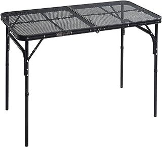 山善 キャンパーズコレクション タフライトテーブル(幅120奥行60cm) TLT-1260(MBK)