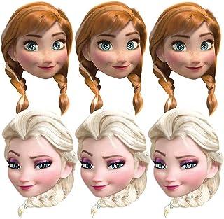 Procos 85967-Valved Paper Disney Frozen (Anna and Elsa), Set of 6, Multi-Colour