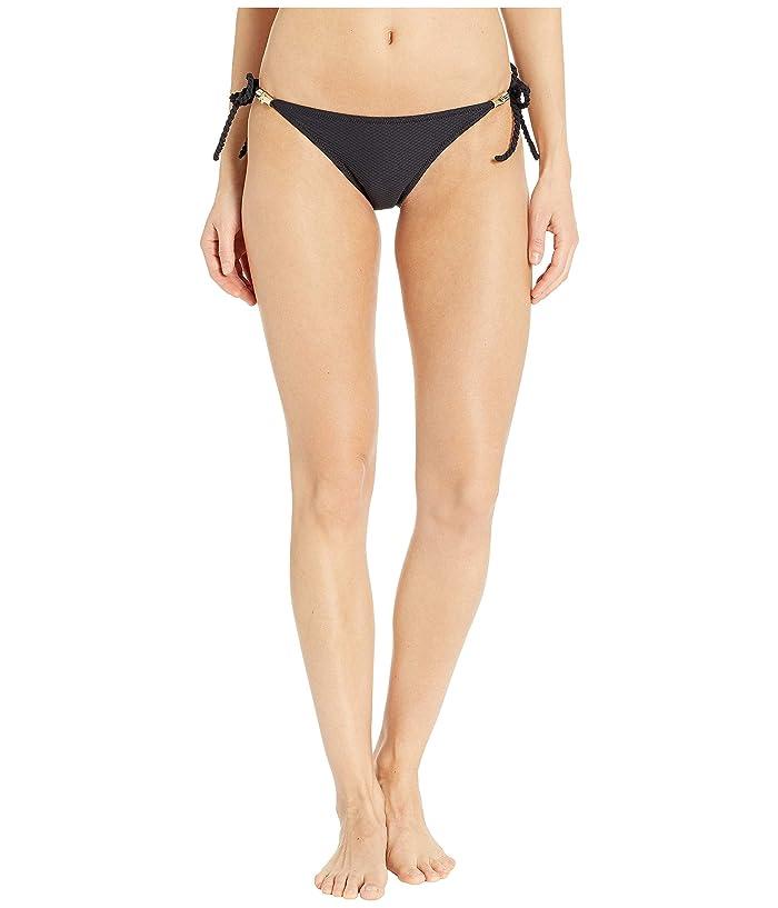 Heidi Klein Core Rope Tie Side Bottom (Black/Black) Women