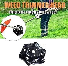 Tokenhigh Universal Weed Trimmer Head, Mowing Head, Lawn Mower Sharpener Brush Cutter Head 9.5