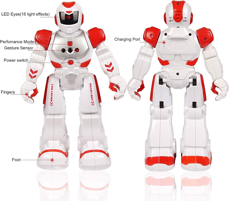 Robots Recargable Multifuncionales Robots Programable Cantando y Bailando para Ni/ños Gestos Control Robots FORMIZON Robot de Control Remoto Juguete