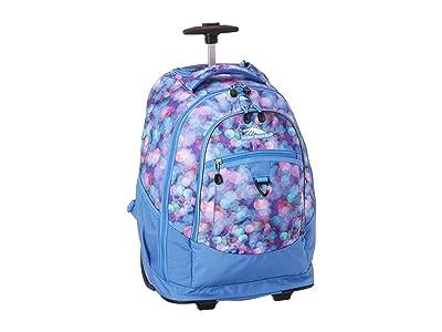 High Sierra Chaser Wheeled Backpack (Shine Blue/Lapis) Backpack Bags