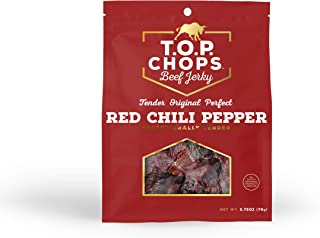 T.O.P. Chops Red Chili Pepper - Soft & Tender Gourmet Beef Jerky (5 pack)