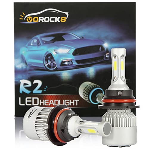 R2 COB 9007 HB5 8000LM LED Headlight Conversion Kit, Hi/Lo beam headlamp,