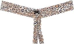 Plus Size Leopard Nouveau Crotchless Thong