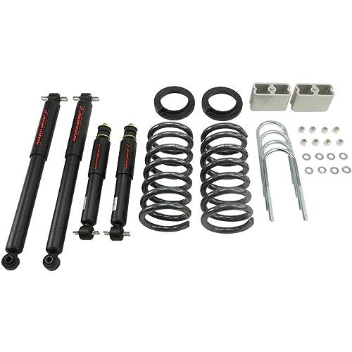 "3//3 Drop Kit S10 2wd V6 3/"" Front Springs 3/"" Rear Aluminum Blocks Ubolts"