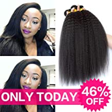 9A Grade Brazilian Yaki Straight Hair 3 Bundles 10 12 14 Inch Total 300 Grams Good Quality Kinkys Straight Hair 100% Unprocessed Virgin Human Hair No Tangle No Shedding