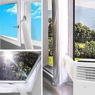 SUNTEC Air-Block-Klima Sail Zubehör-Set für mobile lokale Klimageräte, Praktisches Segel zur Abdichtung von Fenstern/Türen inklusive Reißverschluss-Öffnung, Einfache Fixierung  Rückstandslose Entfernung