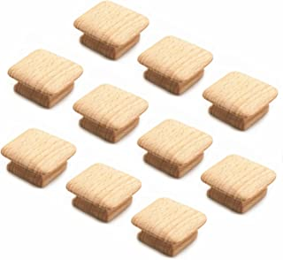 WEICHUAN 10PCS Square Unfinished Wood Drawer Knobs Pulls Handles - Cabinet Furniture Drawer Knobs Pulls Handles (Length and Width: 1-3/4 Inches Height: 3/4 Inch)